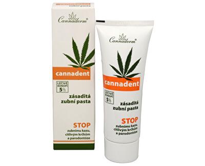 Cannaderm Zásaditá zubní pasta Cannadent 75 g