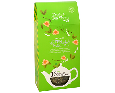 English Tea Shop Zelený čaj s infúzí tropického ovoce 16 pyramidek