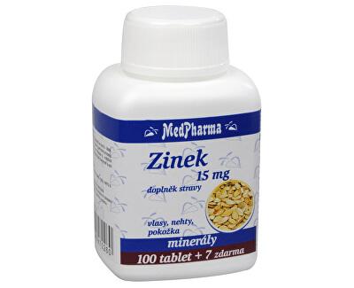 MedPharma Zinek 15 mg 100 tbl. + 7 tbl. ZDARMA