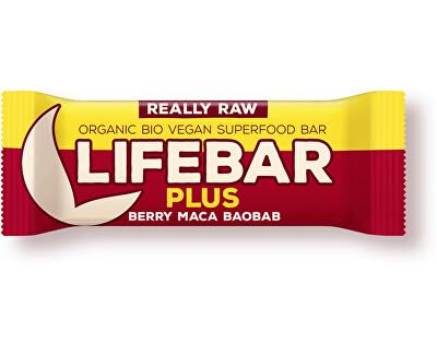 Lifefood Bio tyčinka Lifebar Plus třešňová s macou a baobabem 47g