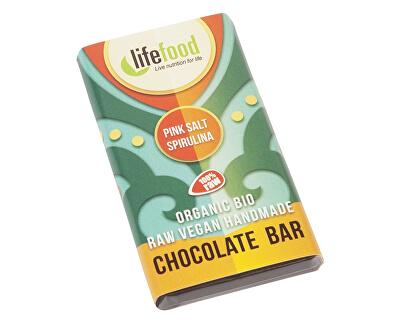 Lifefood Bio Lifefood mini čokoládka slaná se spirulinou 15g, min.trv. 9.10.2018