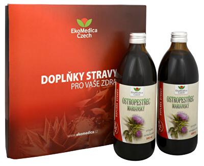EkoMedica Czech Ostropestřec mariánský 500 ml + 500 ml