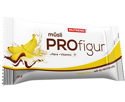 Nutrend Profigur Müsli banán s cik cak polevou 28 g