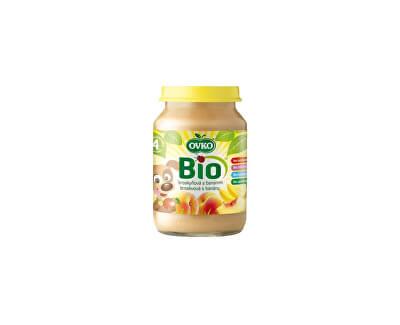 OVKO Bio Dětská výživa broskvová s banány OVKO 190g