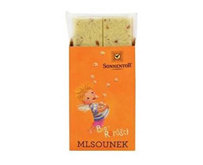Sonnentor Mlsounek - bílá mlečná čokoláda s kousky kuliček v čokoládě 50g