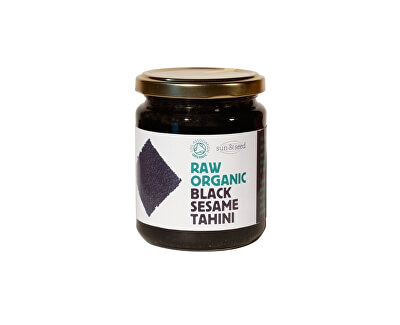 Sun and Seed Bio Tahini pasta z černého sezamového semínka raw 250g