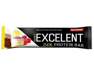 Nutrend EXCELENT protein bar DOUBLE, 85 g, citron + tvaroh + malina s brusinkami