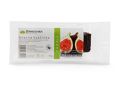 Damodara Tyčinka Ovocná svačinka fíková 60g