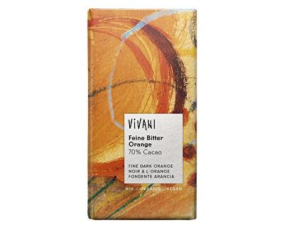 VIVANI Bio Horká čokoláda 70% pomarančová 100g