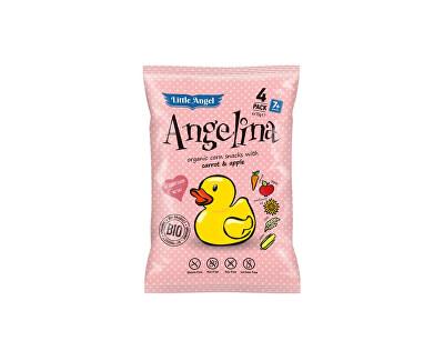 Little Angel Bio Snack kukuřičný Angelina mrkev a jablko 4x15g