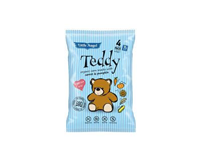 Little Angel Bio Snack kukuřičný Teddy mrkev a dýně 4x15g
