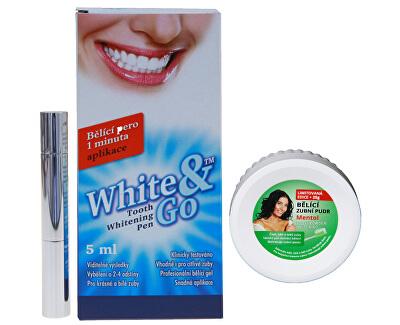 Pen Whitening - Albire dentară pen 5 ml + pulbere de albire dentară Mentol 55 g ZD ARMA