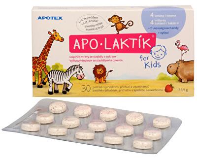 Apotex APO-LAKTÍK for Kids 30 žuvacích pastiliek