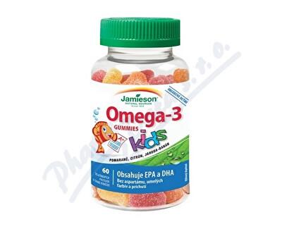 JAMIESON LABORATORIES JAMIESON Omega-3 Kids Gummies želatin.pastil.60ks