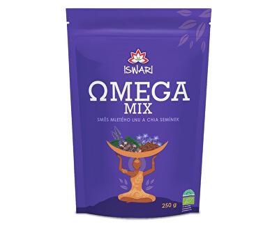 BIO Omega Mix (směs mletých semínek chia, hnědý len) 250 g