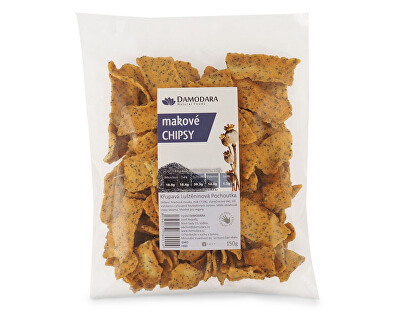 Damodara Makové chipsy 150g