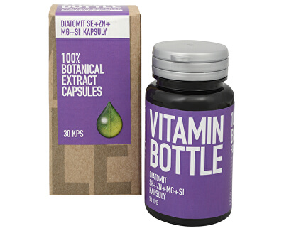 Vitamin-Bottle DIATOMIT Se + Zn + Mg + Si 30 kapslí