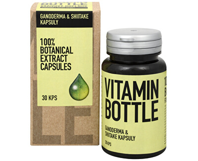 Vitamin-Bottle Ganoderma a Shiitake 30 kapsúl