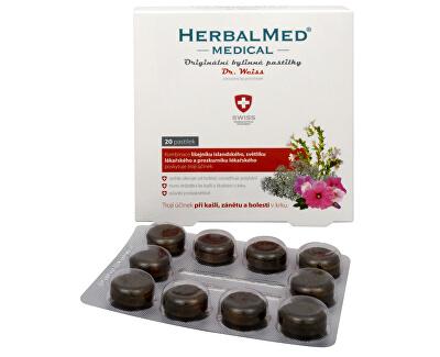 Herbalmed MEDICAL pastilky Dr. Weiss 20 pastilek