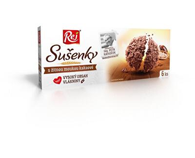 REJ S.R.O. Sušenky kakaové s žitnou moukou 120g