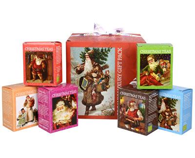 Complecte de cadou - lux ceai BIO într-un saci cub rosu 96/6 arome