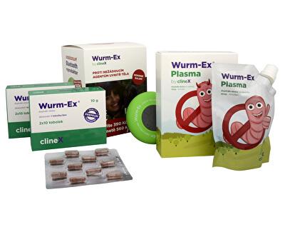 Clinex Dárkové balení Wurm-Ex 2 x 20 tob. + Wurm-Ex Plasma 100 ml ZDARMA + Bluetooth reproduktor ZDARMA
