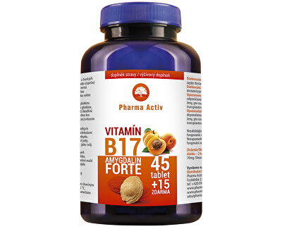 Pharma Activ Amygdalín FORTE vit. B17 45 tbl. + 15 tbl. ZADARMO