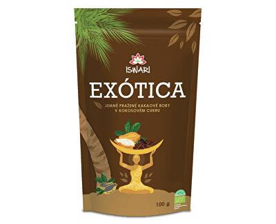 Iswari BIO Kakaové boby v kokosovém cukru EXÓTICA 100 g