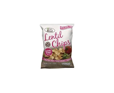 EatReal Čočkové chipsy – rajče a bazalka 40g