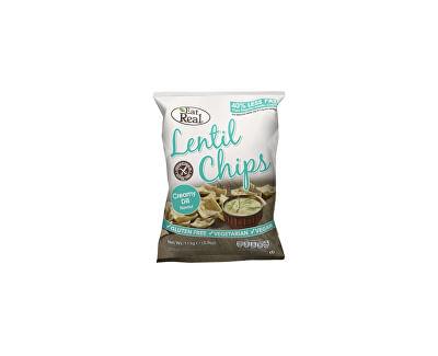 EatReal Čočkové chipsy – s krémovým koprem 40g