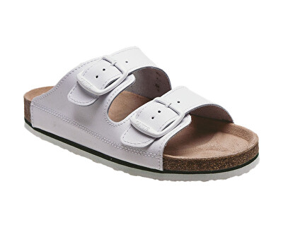 Pantofi de sănătate pentru bărbați profesionist N / 26/10 / H alb