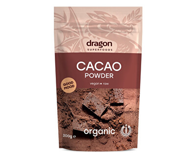 Dragon superfoods Bio Kakao nepražené prášok 200g