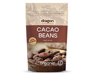 Dragon superfoods Bio Kakaové boby celé nepražené 200g