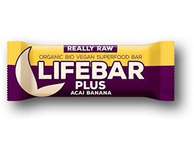Lifefood Bio tyčinka Lifebar Plus acai banán 47g