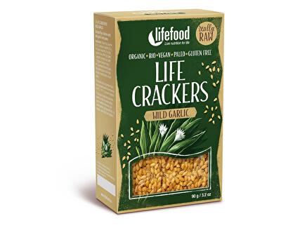 Lifefood Bio Life crackers s medvědím česnekem 90g