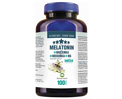 Pharma Activ Melatonin Mučenka Meduňka B6 80 tbl. + 20 tbl. ZDARMA