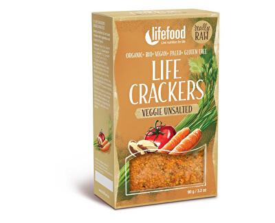 Lifefood Bio Life Crackers Zeleninové bez soli RAW 90g
