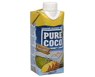 Pure Coco Pure Coco 100% kokosová voda Ananas 330 ml