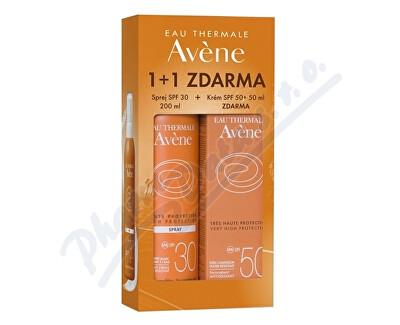 PIERRE FABRE DERMO-COSMETIQUE AVENE Spray SPF30 200ml+Creme SPF50 50ml