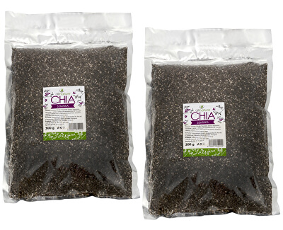 Allnature Chia semínka 500 g + 500 g ZDARMA