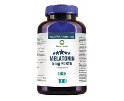 Pharma Activ Melatonin 5 mg Forte 80 tbl. + 20 tbl. ZDARMA