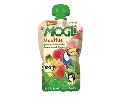 MOGLI Bio Ovocné pyré Moothie banán rebarbora malina bez cukru 100g