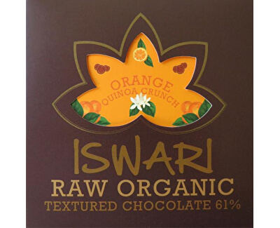 Iswari Raw čokoláda - Orange Quinoa Crunch 75 g BIO