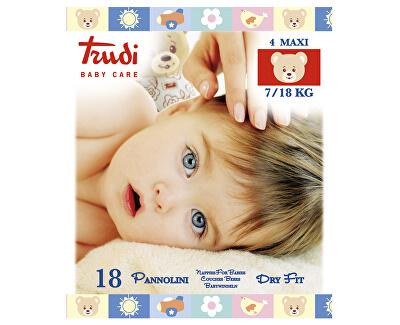 Trudi Dětské pleny Dry Fit s vrstvou Perfo-Soft velikost Maxi 7-18 kg 18 ks
