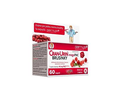 Barny´s Barny´s Cran-Urin megaPAC brusinky 60 kapslí