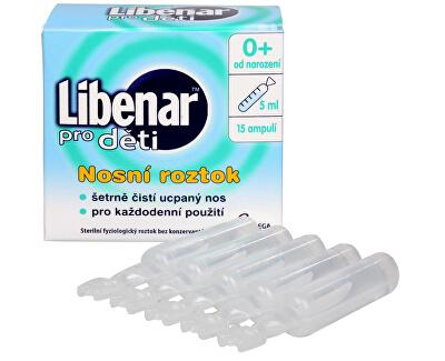 Libenar pro děti 15 ampulí po 5 ml