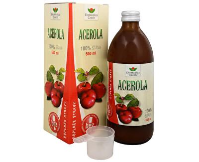 EkoMedica Czech Acerola - 100% šťava z aceroly 500 ml - ZĽAVA - bez krabičky