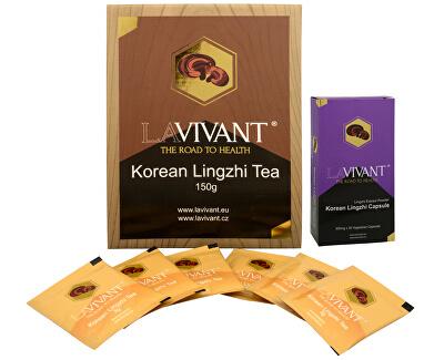 Lavivant Korean Lingzhi (Ganoderma, reishi) 30 kapslí  + Korean Lingzhi Tea 50 x 3 g