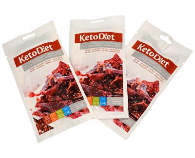 KetoDiet Sušené maso hovězí jerky 3 x 30 g