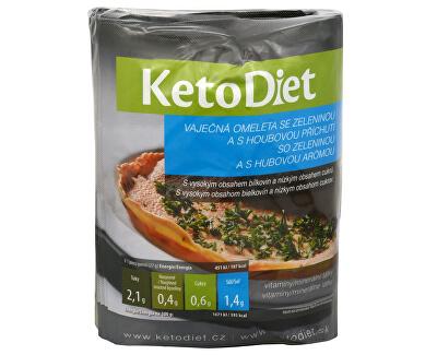 KetoDiet Proteinová omeleta s hříbkovou příchutí 7 x 27 g